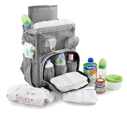 Kristy Diaper Bag With Changing Mat Grey Snatcher Online Shopping South Africa