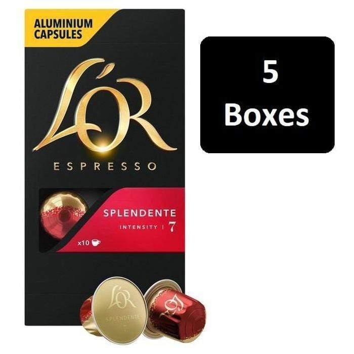 L'OR Espresso Splendente Intensity 7 Option 2 - 5 Boxes Snatcher Online Shopping South Africa