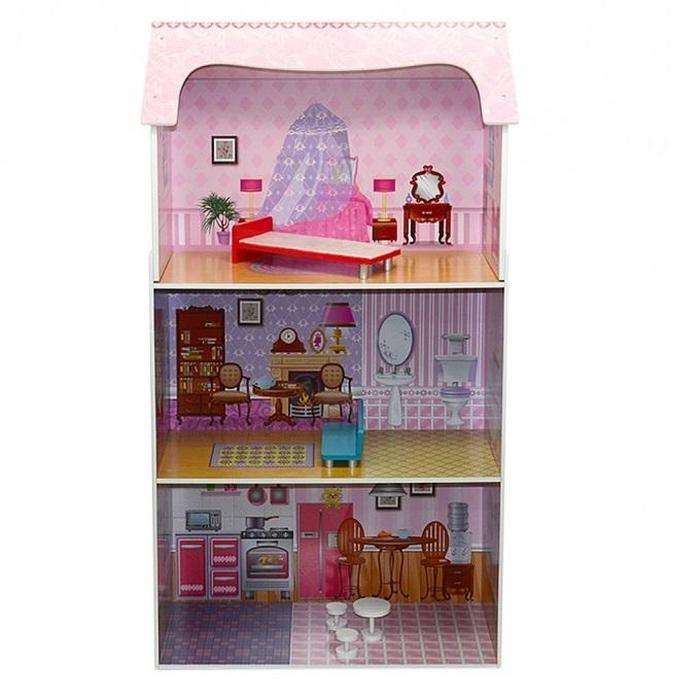 Large 3-Level Wooden Doll House Snatcher Online Shopping South Africa