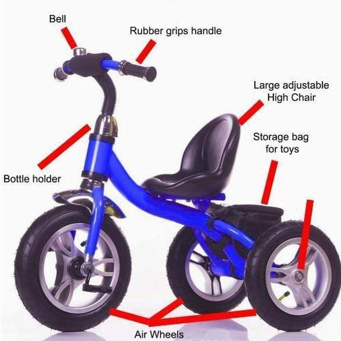 Little Bambino Tricycle With High Chair and Storage Bag Blue Snatcher Online Shopping South Africa
