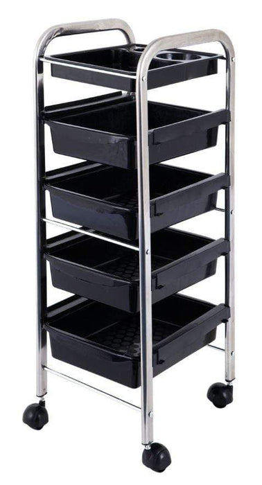 Lucky Salon Trolley Plastic Black 5Tier Snatcher Online Shopping South Africa