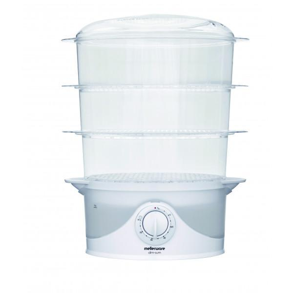 "Mellerware Food Steamer With Timer Plastic 3 Tier / 9L 800W ""Dim Sum"" Snatcher Online Shopping South Africa"