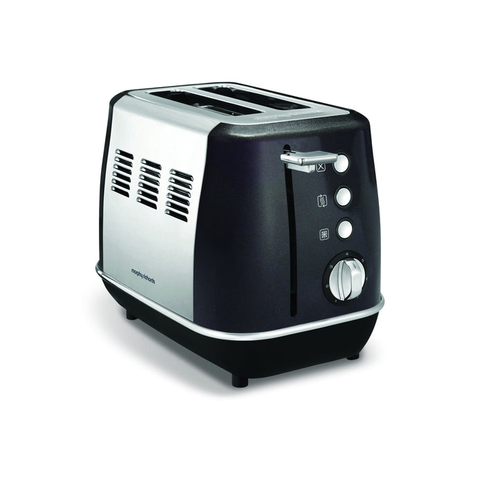 "Morphy Richards Toaster 2 Slice Stainless Steel Black 900W ""Evoke"" Snatcher Online Shopping South Africa"