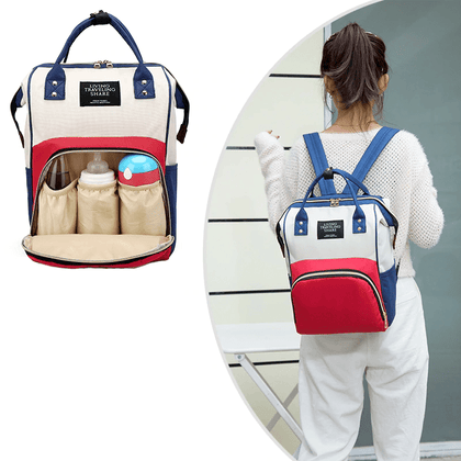 Multi-functional Mummy Maternity Nappy Bag Red/White Mix Snatcher Online Shopping South Africa