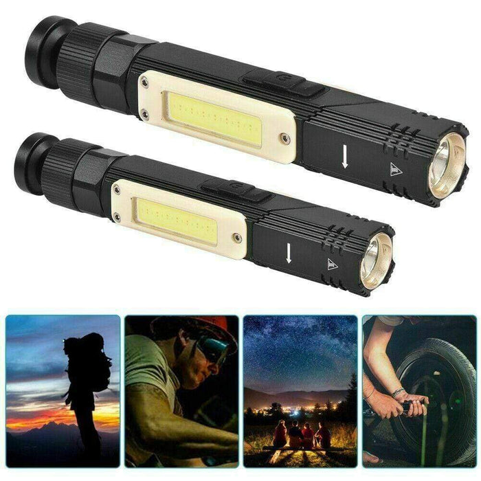 Multifunctional LED COB Flashlight With USB Charging Snatcher Online Shopping South Africa