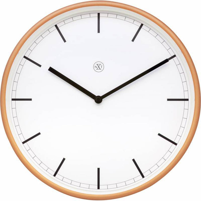 NeXtime 30cm Martin Plastic Round Wall Clock - White & Matt Rose Snatcher Online Shopping South Africa