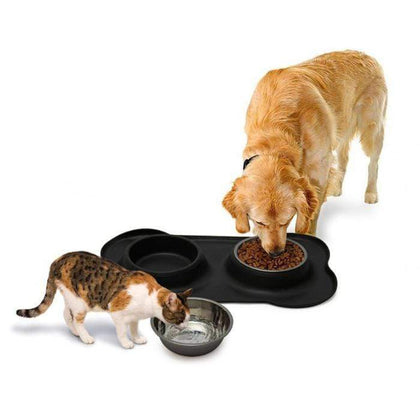 Non-Slip Double Pet Bowl Black Snatcher Online Shopping South Africa