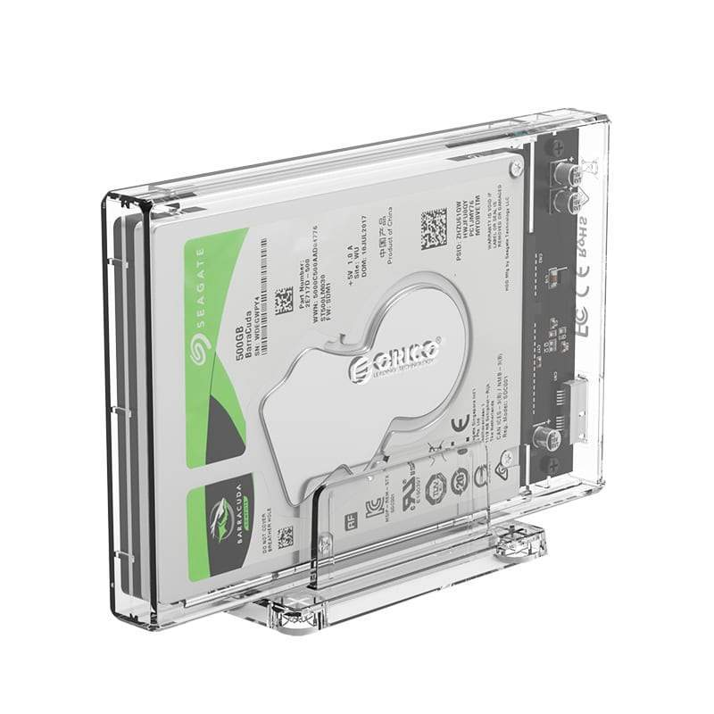 "Orico 2.5"" USB3.0 External Hard Drive Enclosure - Transparent Snatcher Online Shopping South Africa"