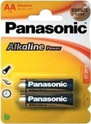 Panasonic Alkaline Power AA Batteries 2 Pack Colour Bronze- LR6APB/2BP, Also known as - 15AU, LR6, X91, AA, Sold As A Pack Of 2 AA Batteries On A Card, Retail Box , No Warranty Snatcher Online Shopping South Africa