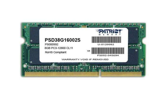 Patriot Signature Line 8GB DDR3 1600MHz SO-DIMM Dual Rank Snatcher Online Shopping South Africa