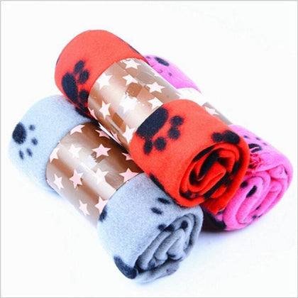 Pet blanket fleece with paw print Snatcher Online Shopping South Africa