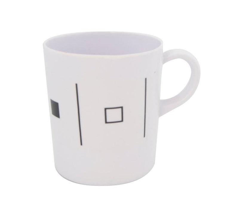 Plastic Black And White Matching Mugs- Set Of 6 Snatcher Online Shopping South Africa
