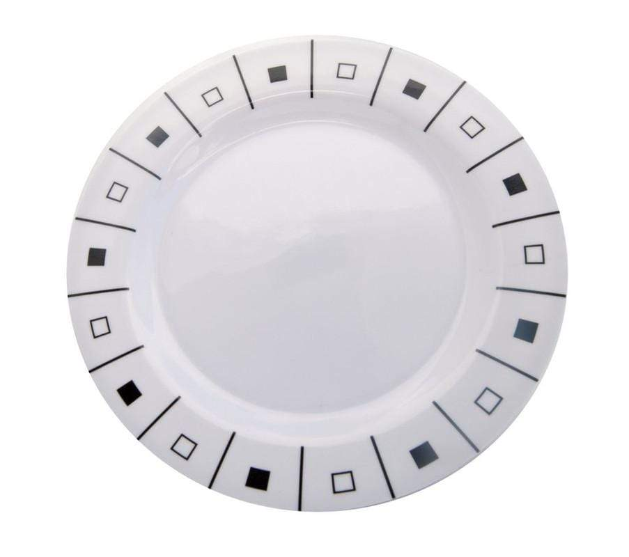 Plastic Black And White Side Plate - Set Of 6 Snatcher Online Shopping South Africa