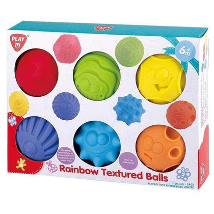 PlayGo Rainbow Textured Balls - 6 Piece Snatcher Online Shopping South Africa