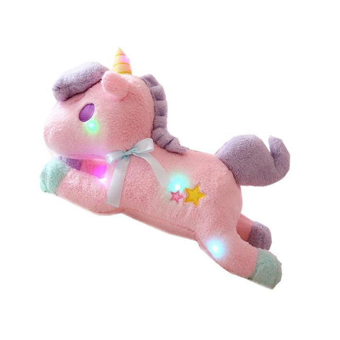 Plush LED Light-Up Unicorn Pastel Pink Snatcher Online Shopping South Africa