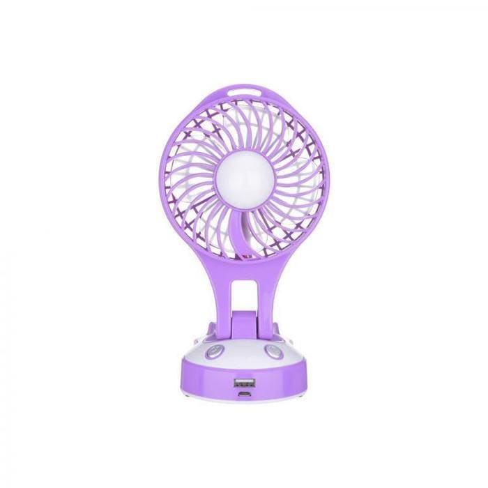 Portable And Rechargeable Fan With LED Light Snatcher Online Shopping South Africa