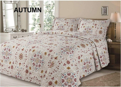 Printed Quilted Bedspreads Double/Queen / Autumn Snatcher Online Shopping South Africa