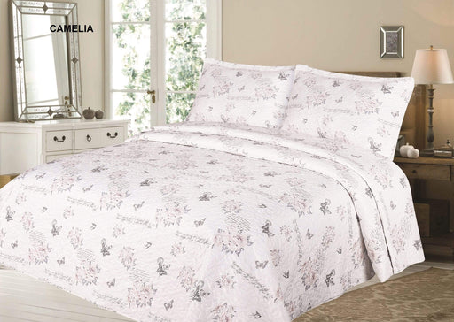 Printed Quilted Bedspreads Double/Queen / Camelia Snatcher Online Shopping South Africa
