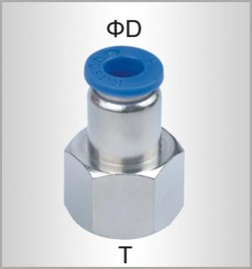 PU HOSE FITTING STRAIGHT STUD 8MM-1/4 F Snatcher Online Shopping South Africa