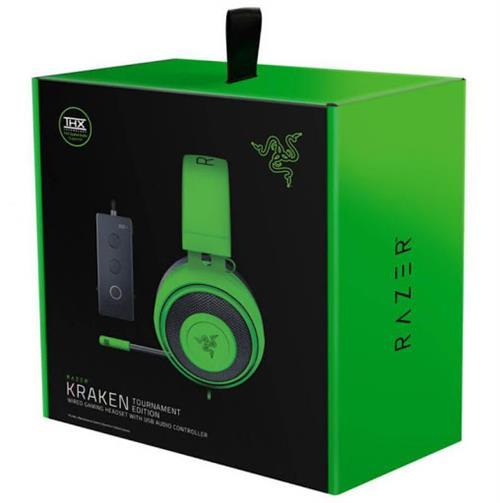 Razer Kraken Tournament Edition Green Gaming Headset - 3.5 mm Connector, 1.3m Cable, 50 mm Drivers, Retail Box , 1 Year warranty Snatcher Online Shopping South Africa