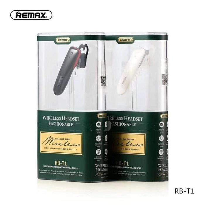 REMAX RB - T1 Bluetooth 5.0 Headset Black Snatcher Online Shopping South Africa