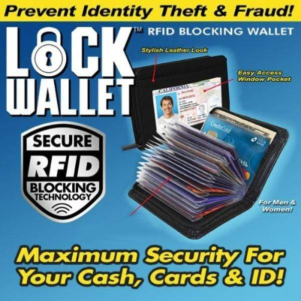 RFID Blocking Lock Wallet Snatcher Online Shopping South Africa