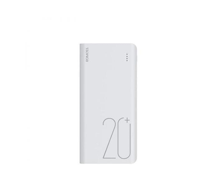 Romoss Sense6+ 20000mAh QC Type-C Power Bank White Snatcher Online Shopping South Africa