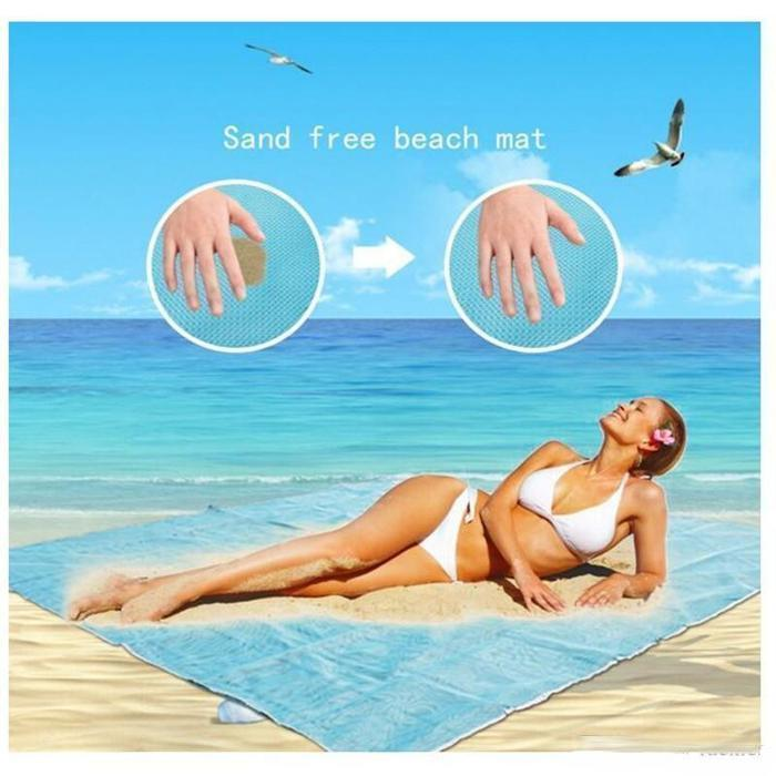 Sand-Free Beach Mat Blue Snatcher Online Shopping South Africa