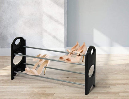 Shoe Rack - 2 Tier - Black Snatcher Online Shopping South Africa