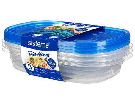 Sistema 950ml Rectangle 3 Pack Snatcher Online Shopping South Africa