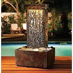 Slate Tower Fountain With Lights Snatcher Online Shopping South Africa