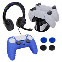 Sparkfox PlayStation 5 Combo Gamer Pack with Headset|Grip Pack|Controller Skin|Charging Dock Snatcher Online Shopping South Africa