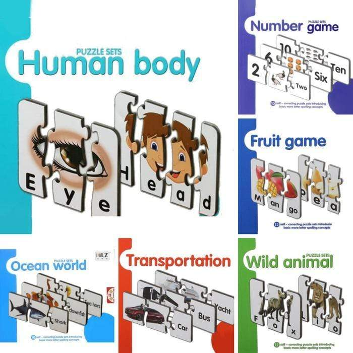 Spelling And Matching Puzzle Sets Human Body Snatcher Online Shopping South Africa