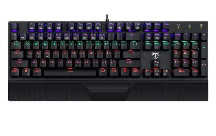 T-Dagger Destroyer 104 Key|Wrist Guard|Rainbow Backlit Gaming Mechanical Keyboard Black Snatcher Online Shopping South Africa