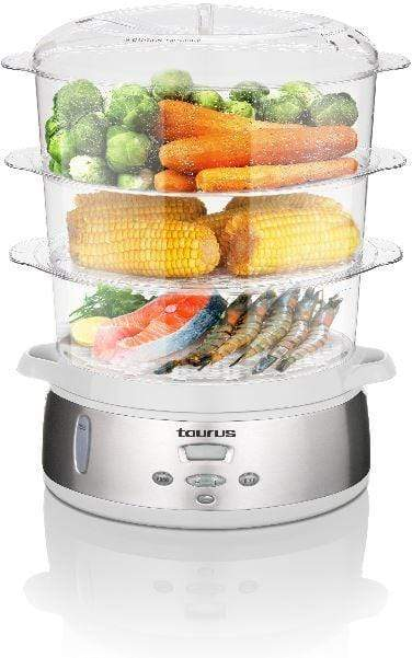 "Taurus Food Steamer Digital Stainless Steel 3Tier 800W ""Estilo Vapor"" Snatcher Online Shopping South Africa"