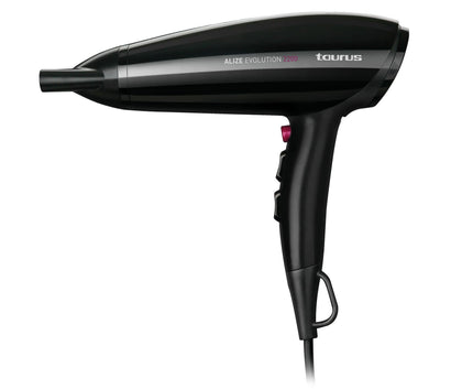 Taurus Hair Dryer With Attachments Plastic Black 3 Speed 2200W