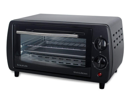 Taurus Mini Oven With Double Glass Door Adjustable Temperature Steel Black 9L 800W