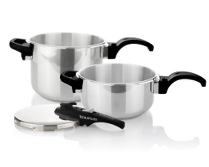 Taurus Pressure Cooker 2 Piece Set Stainless Steel 6 + 4l