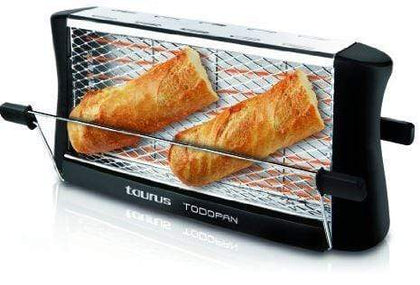 Taurus Toaster 2 Slice Stainless Steel Black 700W