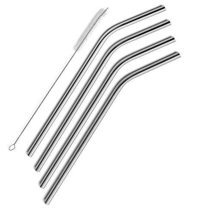 The Last Straw - Pack of 4 Stainless Steel Straws Snatcher Online Shopping South Africa