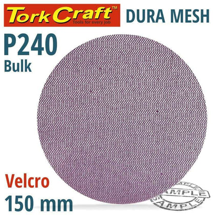Tork Craft Dura Mesh Abr. Disc 150Mm Hook & Loop 240Grit Bulk For Sander Polisher Snatcher Online Shopping South Africa