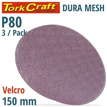 Tork Craft Dura Mesh Abr.Disc 150Mm Hook & Loop 80Grit 3Pc For Sander Polisher Snatcher Online Shopping South Africa