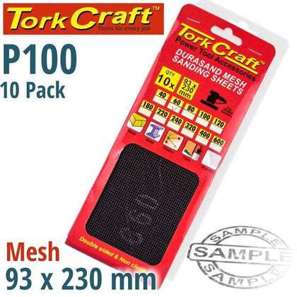 Tork Craft Durasand Mesh Sanding Sheet 100Grit 93 X 230Mm 10Pc Per Pack Snatcher Online Shopping South Africa