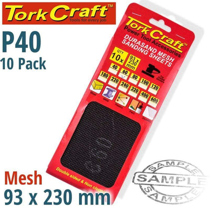 Tork Craft Durasand Mesh Sanding Sheet 40Grit 93 X 230Mm 10Pc Per Pack Snatcher Online Shopping South Africa