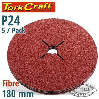 Tork Craft Fibre Disc 180Mm 24 Grit 5 Pack Snatcher Online Shopping South Africa