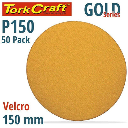 Tork Craft Gold Disc (50 Pieces) 150 Grit 150Mm Without Hole Hook And Loop Snatcher Online Shopping South Africa