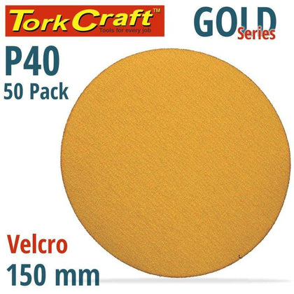 Tork Craft Gold Disc (50 Pieces) 40 Grit 150Mm Without Hole Hook And Loop Snatcher Online Shopping South Africa