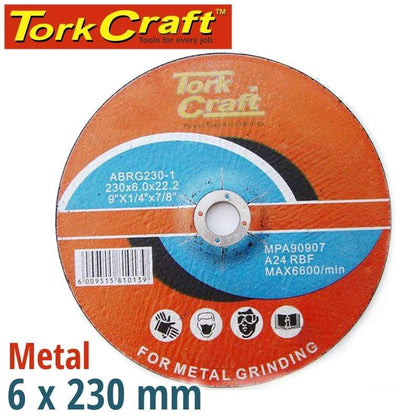 Tork Craft Grinding Disc For Steel 230 X 6.0 X 22.2Mm Snatcher Online Shopping South Africa
