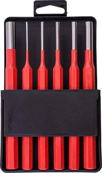 TORK CRAFT PIN PUNCH SET 6PC - 2.5, 3.5, 4. 5, 6, 8, 10MM RED Snatcher Online Shopping South Africa
