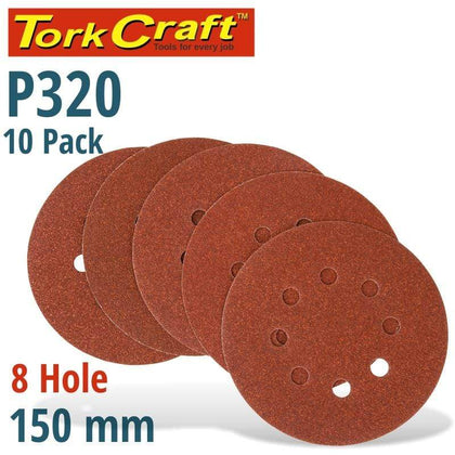 Tork Craft Sanding Disc 150Mm 320 Grit With Holes 10/Pk Hook And Loop Snatcher Online Shopping South Africa